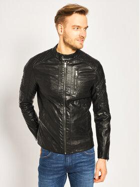 Guess Guess Veste en cuir Quilted Eco M02L46 WCQD0 Noir Regular Fit