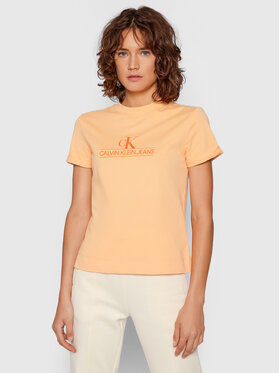 Calvin Klein Jeans Calvin Klein Jeans Blúzka J20J215614 Oranžová Regular Fit