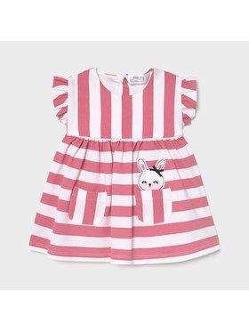 Mayoral Mayoral Každodenní šaty 1812 Růžová Regular Fit