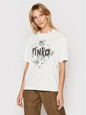 Pinko Pinko T-shirt Semplicemente 1N134F Y5BD Bijela Regular Fit