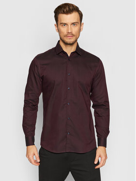 Selected Homme Selected Homme Chemise New Mark 16058640 Bordeaux Slim Fit