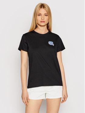 KARL LAGERFELD KARL LAGERFELD T-shirt Mini Ikonik Balloon Karl 211W1715 Crna Regular Fit
