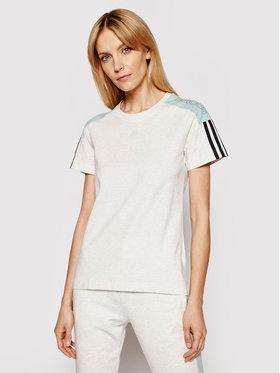 adidas adidas Marškinėliai Cb Lin T GL1449 Pilka Regular Fit