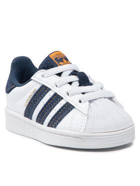 adidas adidas Topánky Superstar El 1 H04031 Biela