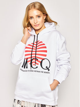 MCQ Alexander McQueen MCQ Alexander McQueen Sweatshirt 527546 ROJ10 9000 Weiß Regular Fit