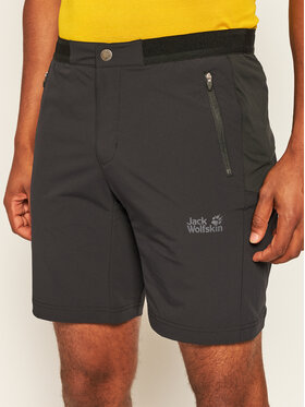 Jack Wolfskin Jack Wolfskin Športové kraťasy Trail 1505951 Čierna Regular Fit