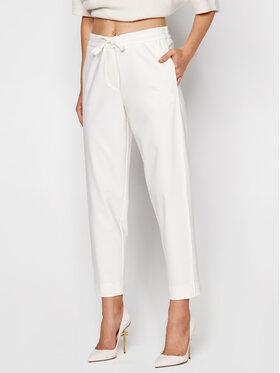 Marella Marella Kalhoty z materiálu Nasco 31360707 Bílá Regular Fit