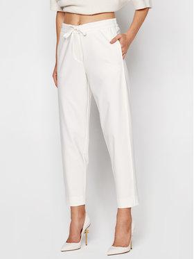 Marella Marella Pantaloni din material Nasco 31360707 Alb Regular Fit