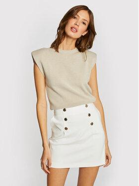 Morgan Morgan Mini sijonas 211-JIPLI.F Balta Regular Fit