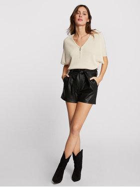 Morgan Morgan Kožená sukňa 211-SHIMS Čierna Regular Fit
