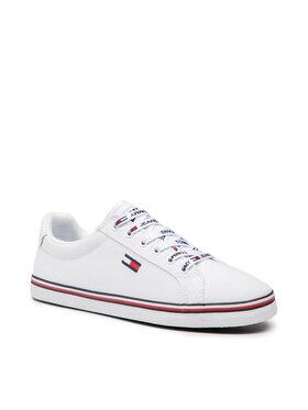 Tommy Jeans Tommy Jeans Tenisówki Essential Lace Up Sneaker EN0EN00786 Biały