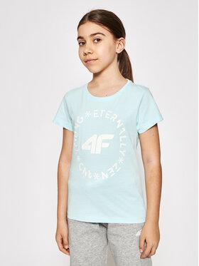4F 4F T-Shirt HJL21-JTSD005B Μπλε Regular Fit