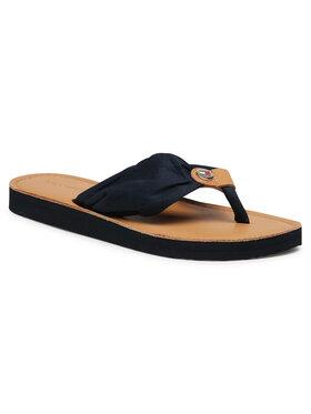 Tommy Hilfiger Tommy Hilfiger Japanke Leather Footbed Beach Sandal FW0FW05677 Tamnoplava