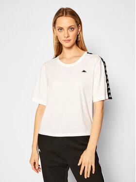 Kappa Kappa T-Shirt Hedda 308001 Biały Relaxed Fit