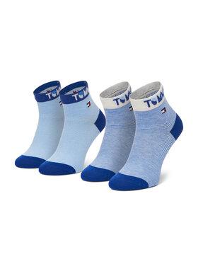 Tommy Hilfiger Tommy Hilfiger Súprava 2 párov vysokých detských ponožiek 100002320 Modrá
