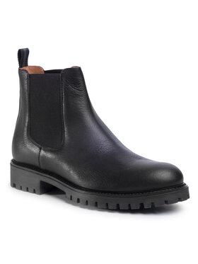 Gino Rossi Gino Rossi Kotníková obuv s elastickým prvkem Zapata MSU415-678-0787-9900-0 Černá