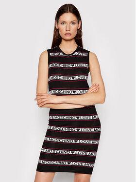 LOVE MOSCHINO LOVE MOSCHINO Плетена рокля WS52R10X 1422 Черен Regular Fit