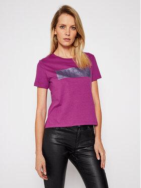 Guess Guess Marškinėliai Adria W1RI05 JA900 Violetinė Relaxed Fit