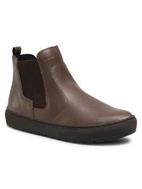 Geox Geox Kotníková obuv s elastickým prvkem D Breeda A D042QA 05402 C6004 Hnědá