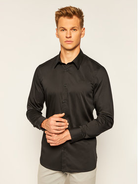 Guess Guess Košile Ls Sunset M0YH20 W7ZK0 Černá Slim Fit