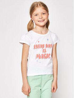 Billieblush Billieblush Marškinėliai U15879 Balta Regular Fit