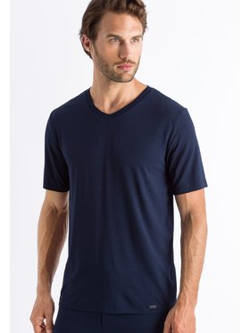 Hanro Hanro T-shirt Casuals 5035 Bleu marine Regular Fit