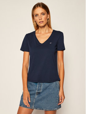Tommy Jeans Tommy Jeans T-shirt V Neck DW0DW09195 Blu scuro Slim Fit