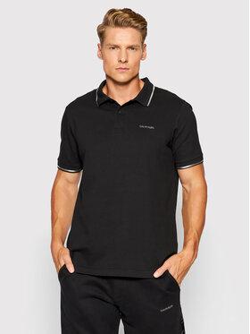 Calvin Klein Calvin Klein Тениска с яка и копчета Silver Logo K10K106735 Черен Regular Fit