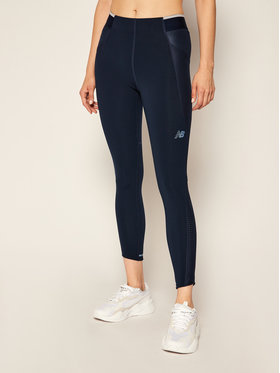 New Balance New Balance Legginsy Q Speed Fuel WP03264 Granatowy Fitted Fit