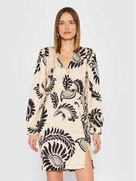 Rinascimento Rinascimento Sukienka koktajlowa CFC0018079002 Beżowy Regular Fit