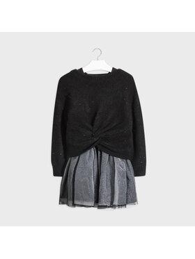 Mayoral Mayoral Комплект пуловер и рокля 7974 Черен Regular Fit