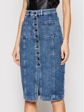 Pinko Pinko Spódnica jeansowa Bruna PE 21 PDEN 1J10NC Y6Z4 Granatowy Slim Fit
