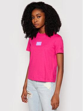 Calvin Klein Jeans Calvin Klein Jeans T-Shirt J20J216184 Růžová Regular Fit