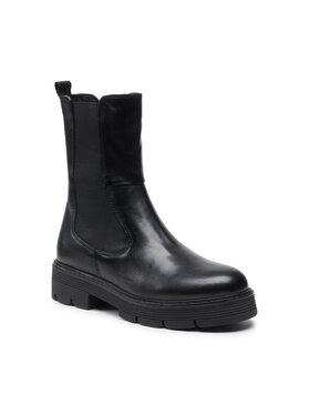 Marco Tozzi Marco Tozzi Členková obuv s elastickým prvkom 2-25441-27 Čierna