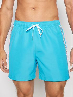 Calvin Klein Swimwear Calvin Klein Swimwear Pantaloni scurți pentru înot Drawstring KM0KM00558 Albastru Regular Fit