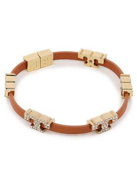 Tory Burch Tory Burch Bransoletka Serif-T Stackable Bracelet 80702 Brązowy