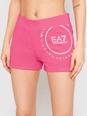EA7 Emporio Armani EA7 Emporio Armani Pantaloni scurți sport 3KTS60 TJ9RZ 1427 Roz Slim Fit