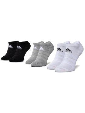adidas adidas Sada 3 párů nízkých ponožek unisex Cush Low 3Pp DZ9383 Černá