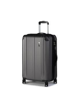 Travelite Travelite Nagy kemény borítású bőrönd City 73048-04 Szürke