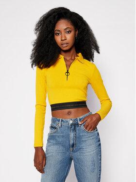 Guess Guess Bluse Arifa W0BP14 K86Z1 Gelb Slim Fit