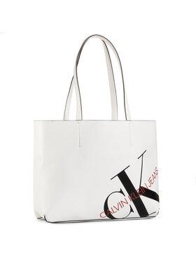Calvin Klein Jeans Calvin Klein Jeans Sac à main Shopper 29 K60K606859 Blanc