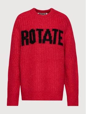 ROTATE ROTATE Sweter Brandy Jumper RT435 Czerwony Oversize