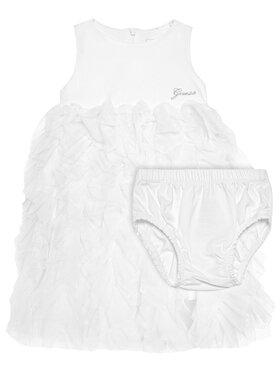 Guess Guess Sukienka elegancka A1RK22 KAE30 Biały Regular Fit