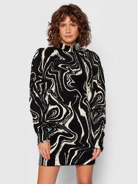 ROTATE ROTATE Плетена рокля Kendra RT660 Черен Slim Fit