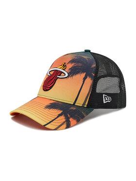 New Era New Era Czapka z daszkiem Nba Miami Heat Summer City 9Forty Trucker 60137589 Żółty