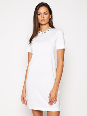 Calvin Klein Jeans Calvin Klein Jeans Sukienka codzienna J20J214925 Biały Regular Fit