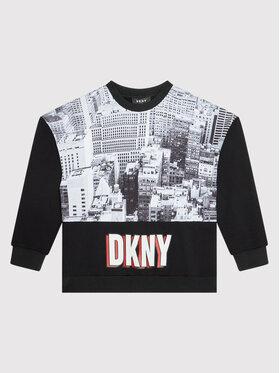 DKNY DKNY Bluza D35R86 M Czarny Regular Fit