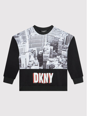 DKNY DKNY Sweatshirt D35R86 M Noir Regular Fit