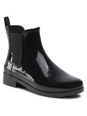 Hunter Hunter Гумові чоботи Org Refined Chelsea Gloss WFS1017RGL Чорний