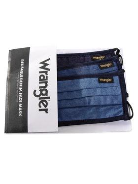 Wrangler Wrangler Set di 3 mascherine di tessuto W0Y1YBX41 Blu scuro